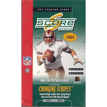 2002 Score Football Jumbo Box