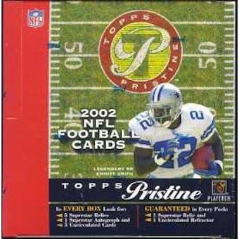 2002 Topps Pristine Football Hobby Box