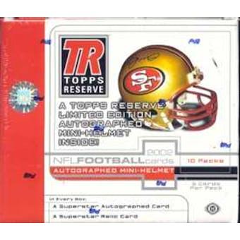 2002 Topps Reserve Football Hobby Box