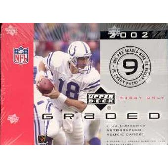 2002 Upper Deck Graded Football Hobby Box