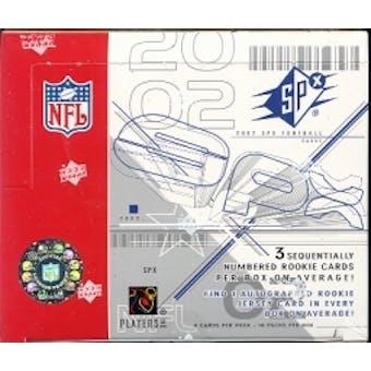 2002 Upper Deck SPx Football Hobby Box