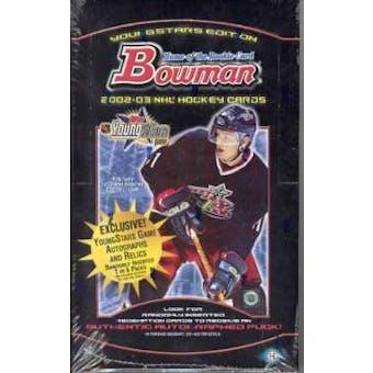 2002/03 Bowman Young Stars Hockey Hobby Box