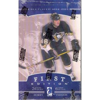 2002/03 Be A Player First Edition Hockey Hobby Box