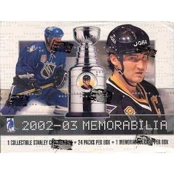 2002/03 Be A Player Memorabilia Hockey Hobby Box