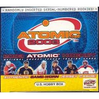2002/03 Pacific Atomic Hockey U.S. Hobby Box