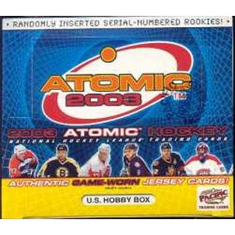 2002/03 Pacific Atomic Hockey U.S. Hobby Box