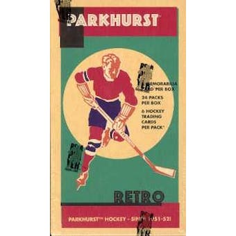 2002/03 Be A Player Parkhurst Retro Hockey Hobby Box