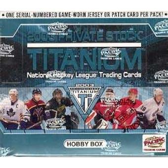2002/03 Pacific Private Stock Titanium Hockey Hobby Box