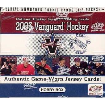 2002/03 Pacific Vanguard Hockey Hobby Box