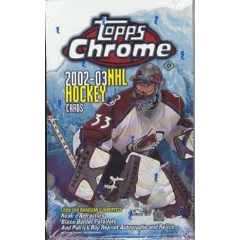 2002/03 Topps Chrome Hockey Hobby Box
