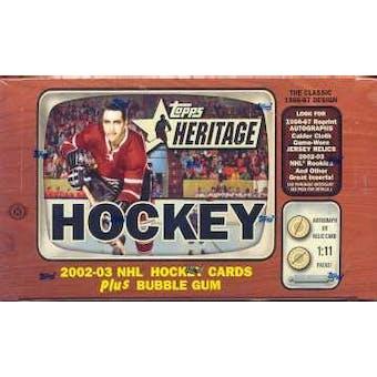 2002/03 Topps Heritage Hockey Hobby Box