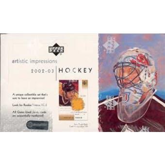 2002/03 Upper Deck Artistic Impressions Hockey Hobby Box