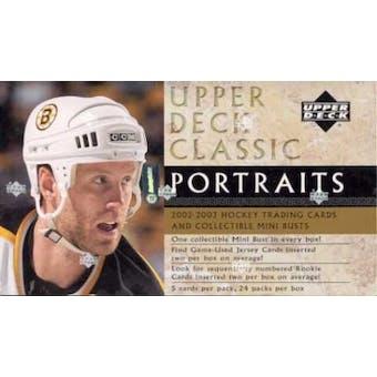 2002/03 Upper Deck Classic Portraits Hockey Hobby Box