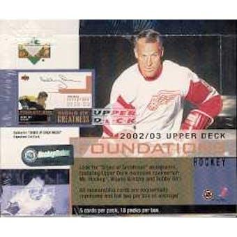 2002/03 Upper Deck Foundations Hockey Hobby Box