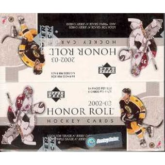 2002/03 Upper Deck Honor Roll Hockey 24 Pack Box