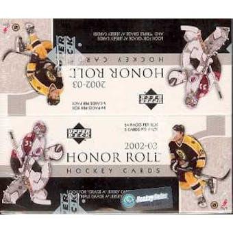 2002/03 Upper Deck Honor Roll Hockey 24 Pack Box