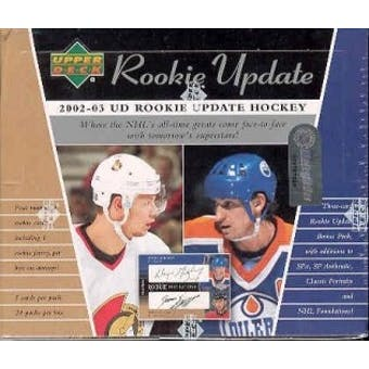 2002/03 Upper Deck Rookie Update Hockey Hobby Box