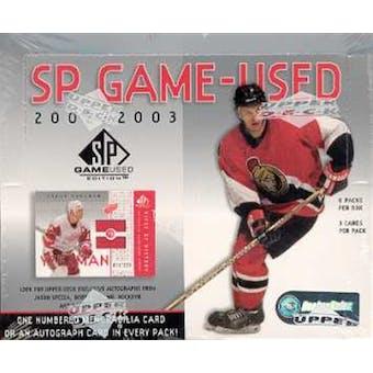 2002/03 Upper Deck SP Game Used Hockey Hobby Box