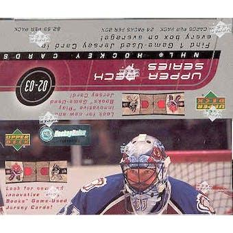 2002/03 Upper Deck Series 1 Hockey 24-Pack Box