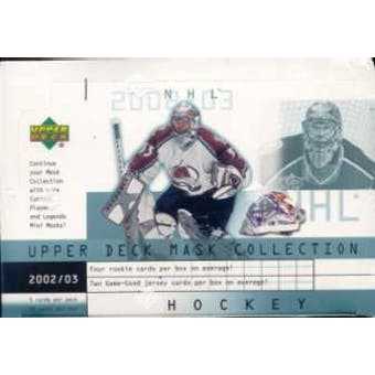 2002/03 Upper Deck Mask Collection Hockey Hobby Box