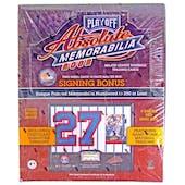 2002 Playoff Absolute Memorabilia Baseball Hobby Box (Reed Buy)