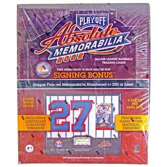 2002 Playoff Absolute Memorabilia Baseball Hobby Box
