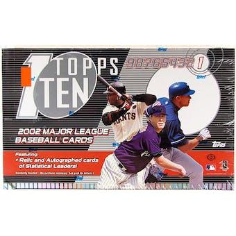 2002 Topps Ten Baseball Hobby Box
