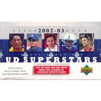 2002/03 Upper Deck Superstars Multi-Sport Hobby Box