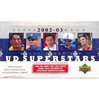 2002/03 Upper Deck Superstars Multi-Sport Hobby Box