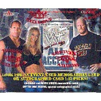 2002 Fleer WWF WWE All Access Wrestling Hobby Box