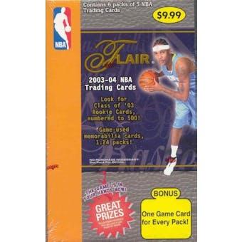 2003/04 Fleer Flair Basketball 6 Pack Retail Box