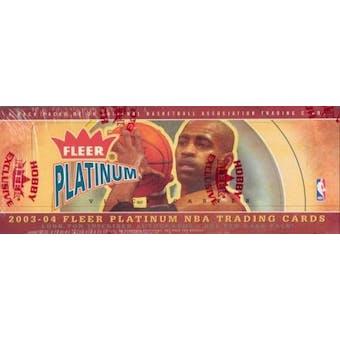 2003/04 Fleer Platinum Basketball Rack Box