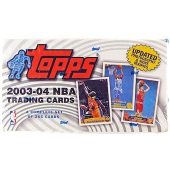 2003/04 Topps Basketball Retail Factory Set (box)