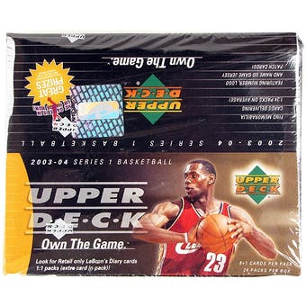 2003/04 Upper Deck Basketball 24-Pack Box