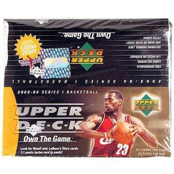 2003/04 Upper Deck Basketball 24-Pack Box