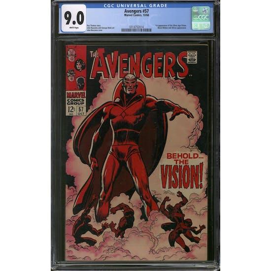 Avengers #57 CGC 9.0 (W) *0314752014*