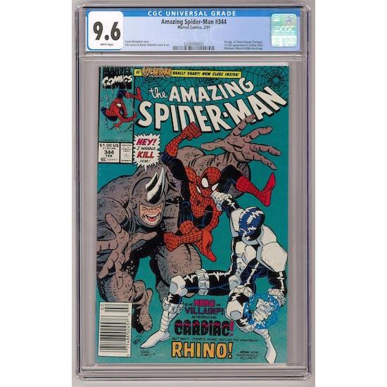 Amazing Spider-Man #344 CGC 9.6 (W) Newsstand *0326568003*