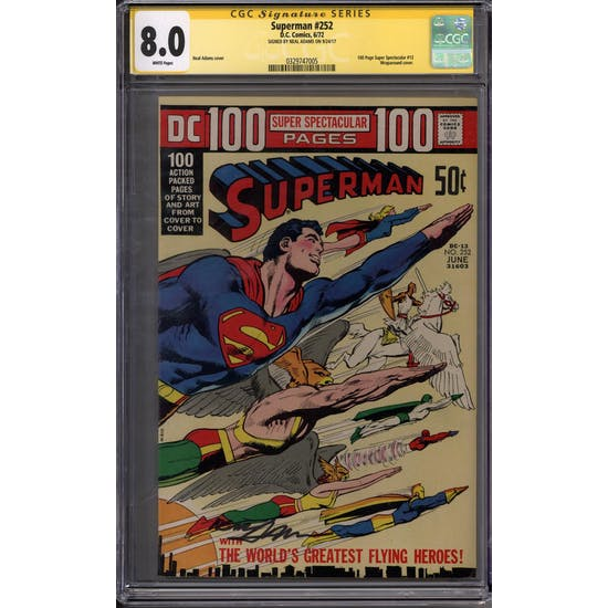 Superman #252 Neal Adams Signature Series CGC 8.0 (W) *0329747005*