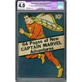 Captain Marvel Adventures #nn (#1) CGC 4.0 Slight/Mod (C-2) Restoration (C-OW) *0329830003*