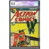 Action Comics #18 CGC 5.5 Slight/Mod. (B-2) Restoration (C-OW) *0330381001*