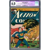Action Comics #27 CGC 6.0 Slight (A-1) Restoration (OW) *0330381002*