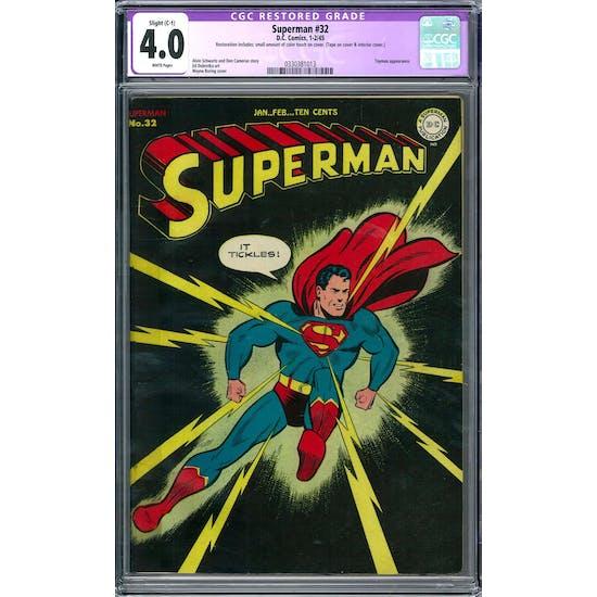 Superman #32 CGC 4.0 Slight (C-1) Restoration (W) *0330381013*