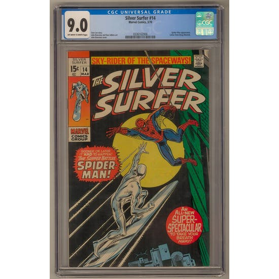 Silver Surfer #14 CGC 9.0 (OW-W) *0336162006*