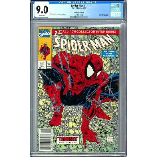 Spider-Man #1 Poly-Bagged Edition CGC 9.0 (W) *0341311008*