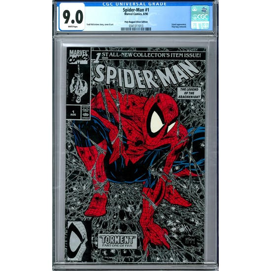 Spider-Man #1 Poly-Bagged Silver Edition CGC 9.0 (W) *0341311013*