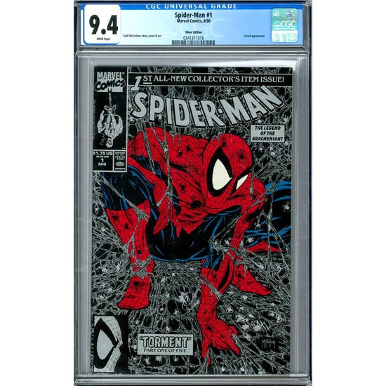 Spider-Man #1 Silver Edition CGC 9.4 (W) *0341311018*