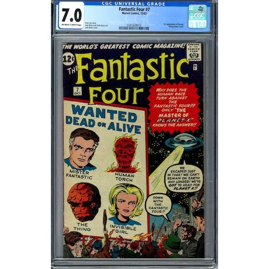 Fantastic Four #7 CGC 7.0 (OW-W) *0341628010*