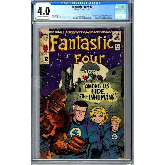 Fantastic Four #45 CGC 4.0 (C-OW) *0348156017*