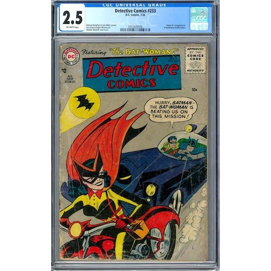 Detective Comics #233 CGC 2.5 (OW) *0352426008*