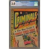Criminals on the Run #10 CGC 3.0 (C-OW) *0352737018*